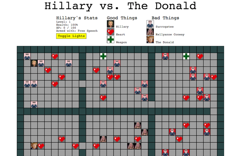 Hillary vs. The Donald