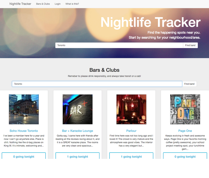 Nightlife Tracker